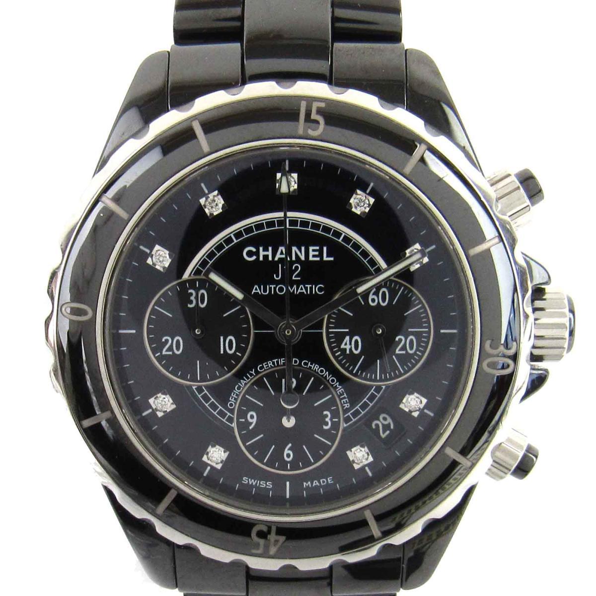 J12 クロノ 9Pダイヤモンド ウォッチ 腕時計