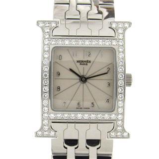エルメス (HERMES) Hウォッチ ダイヤモンドベゼル ウォッチ 腕時計 HH1.230