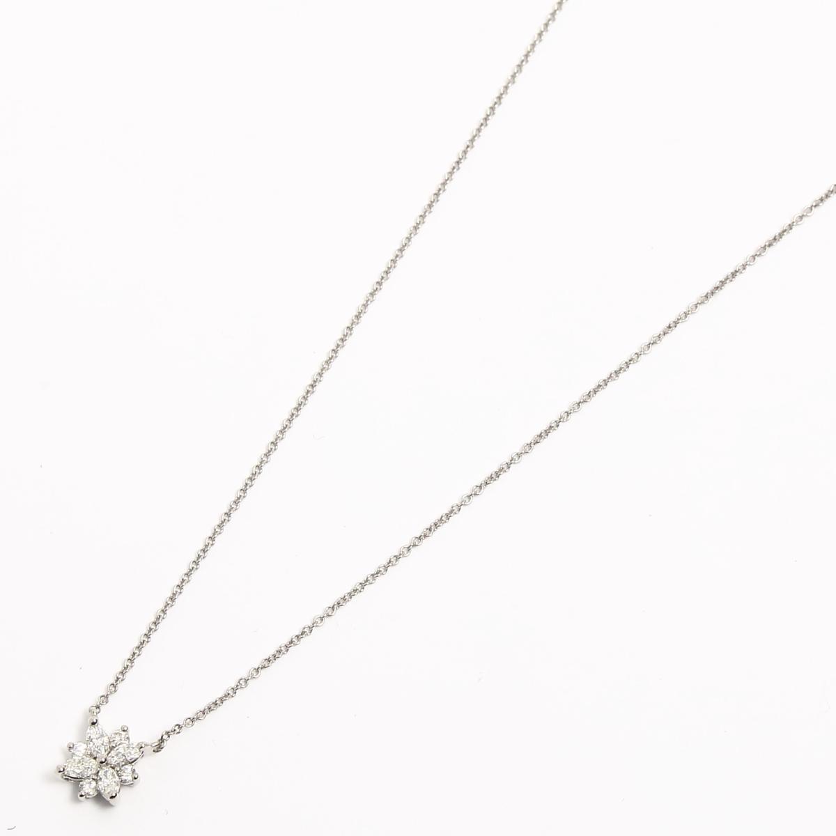 ヴィクトリアクラスター ダイヤモンドネックレス ペンダント