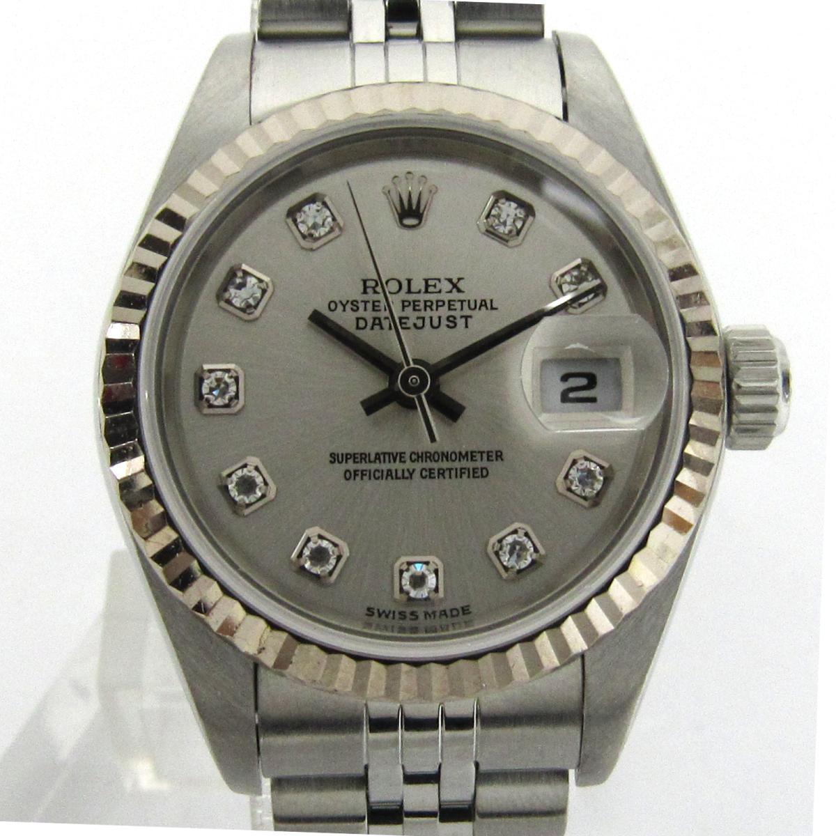 ROLEX 時計 79174G  デイトジャスト 10Pダイヤモンド/腕時計/レディース