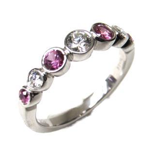 ティファニー (TIFFANY&CO) ジャズ ピンクサファイア ダイヤモンドリング 指輪