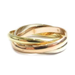 カルティエ (Cartier) トリニティ リング XS 指輪 3連 スリーゴールド