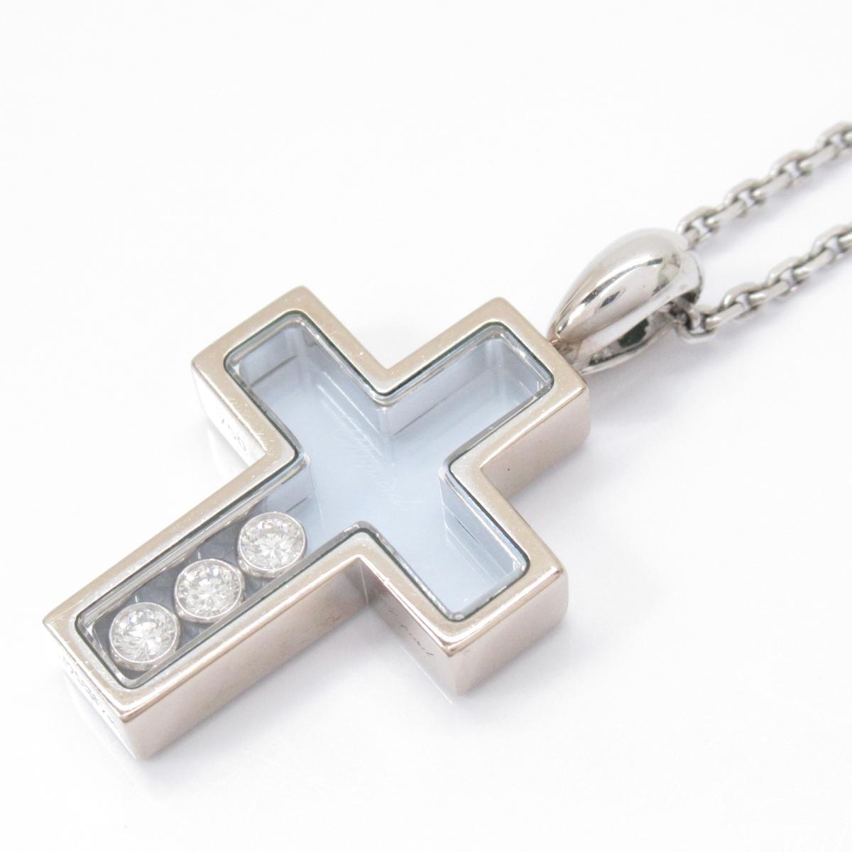 ハッピーダイヤモンドクロスネックレス