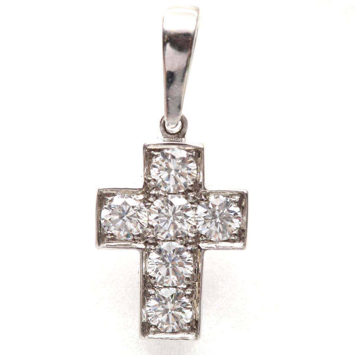 トップ チャーム クロス ダイヤモンド
