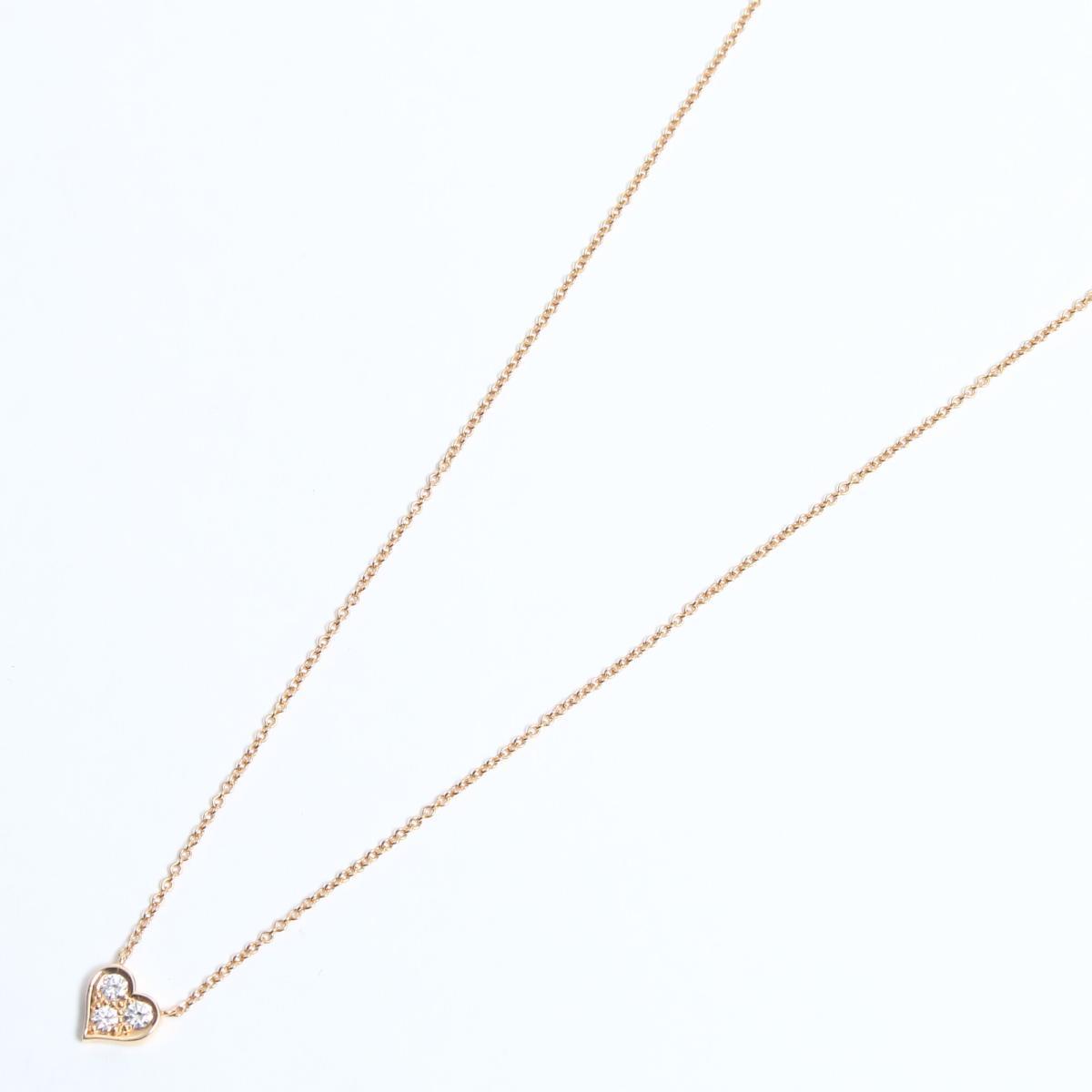 センチメンタル ハート ダイヤモンド ネックレス/可愛い