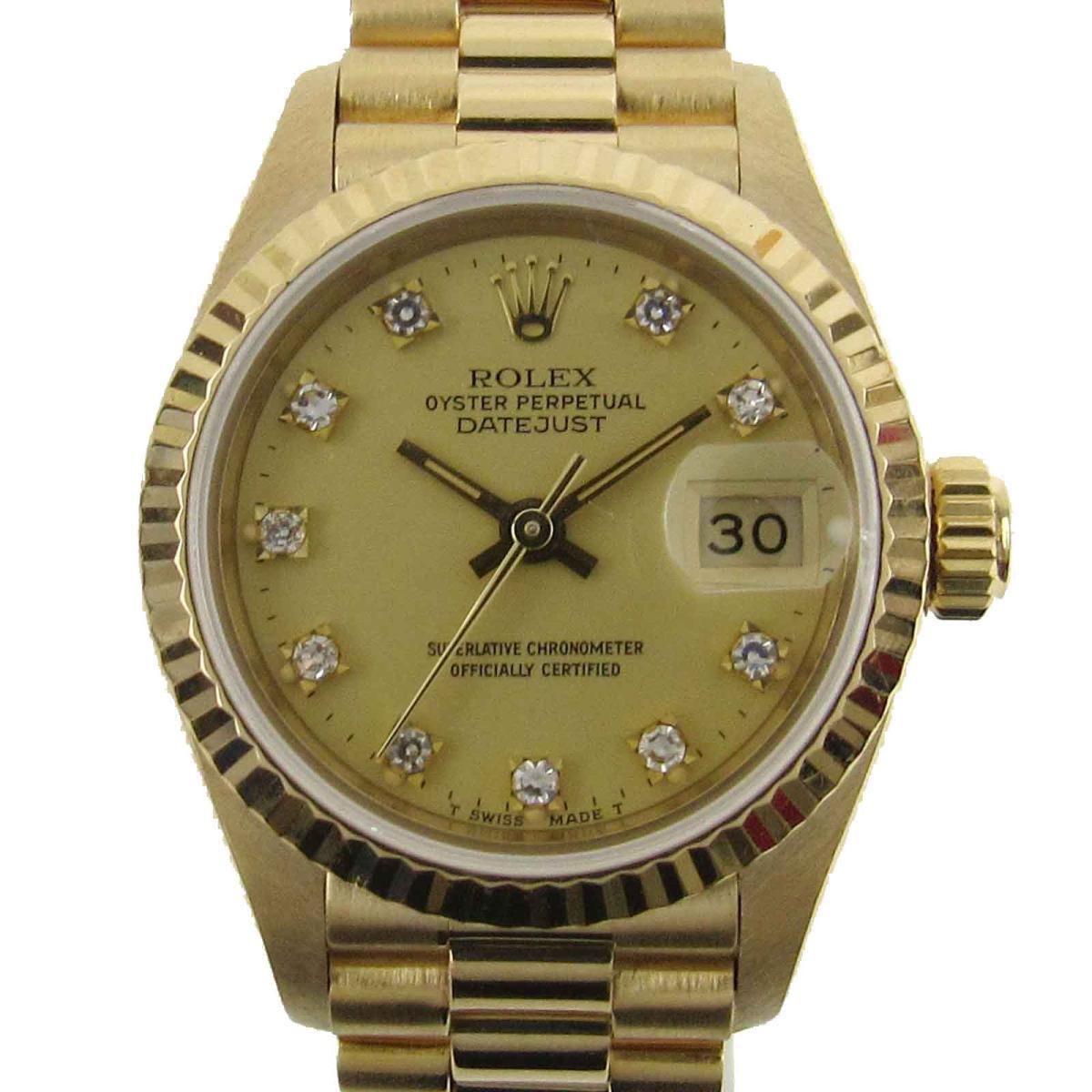 デイトジャスト 10Pダイヤモンド ウォッチ 時計