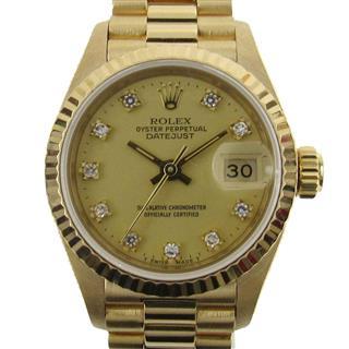ロレックス (ROLEX) デイトジャスト 10Pダイヤモンド ウォッチ 時計 69178G