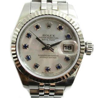 ロレックス (ROLEX) デイトジャスト 10Pサファイア 腕時計 ウォッチ 179174NGS
