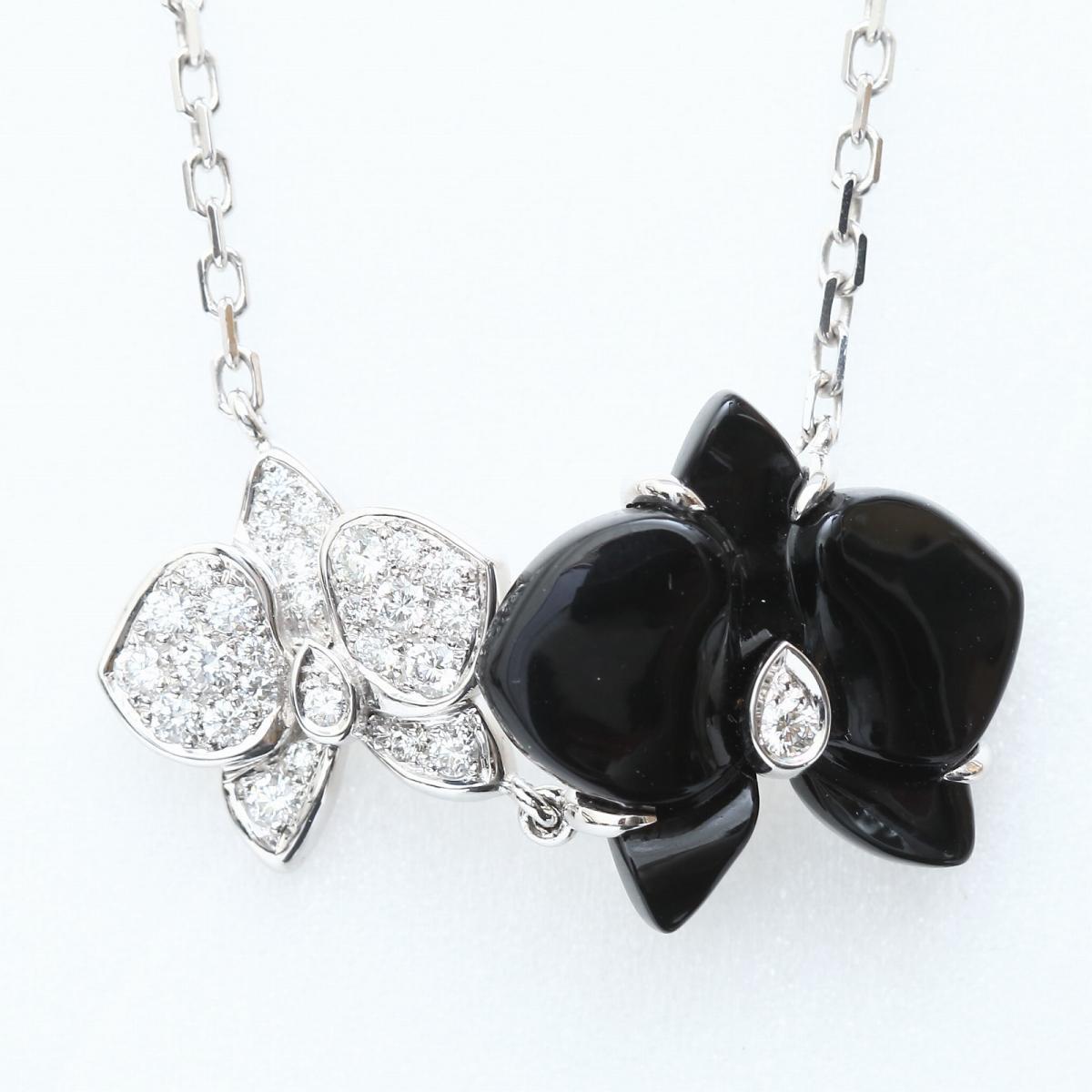 Cartier 貴金属・宝石  カレスドルキデパルネックレス ダイヤモンド ブラックセラミック