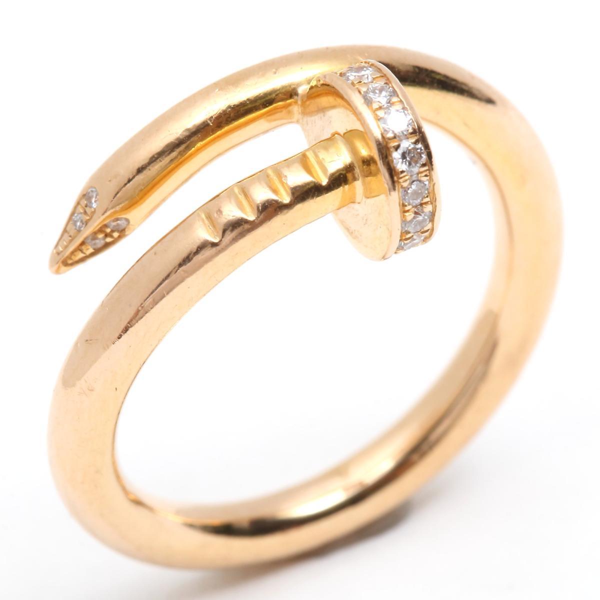 ジュストアンクル ダイヤモンド リング 指輪 #54/10号