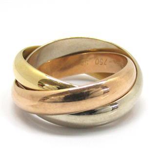 カルティエ (Cartier) トリニティ リング 指輪  スリーゴールド