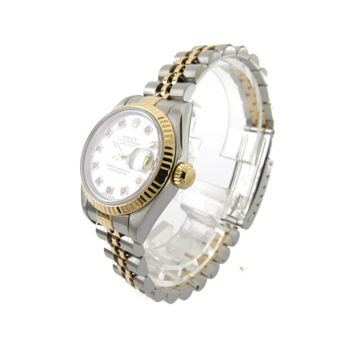 ROLEX 時計 79173NGR P番 デイトジャスト 10Pルビー/腕時計/レディース