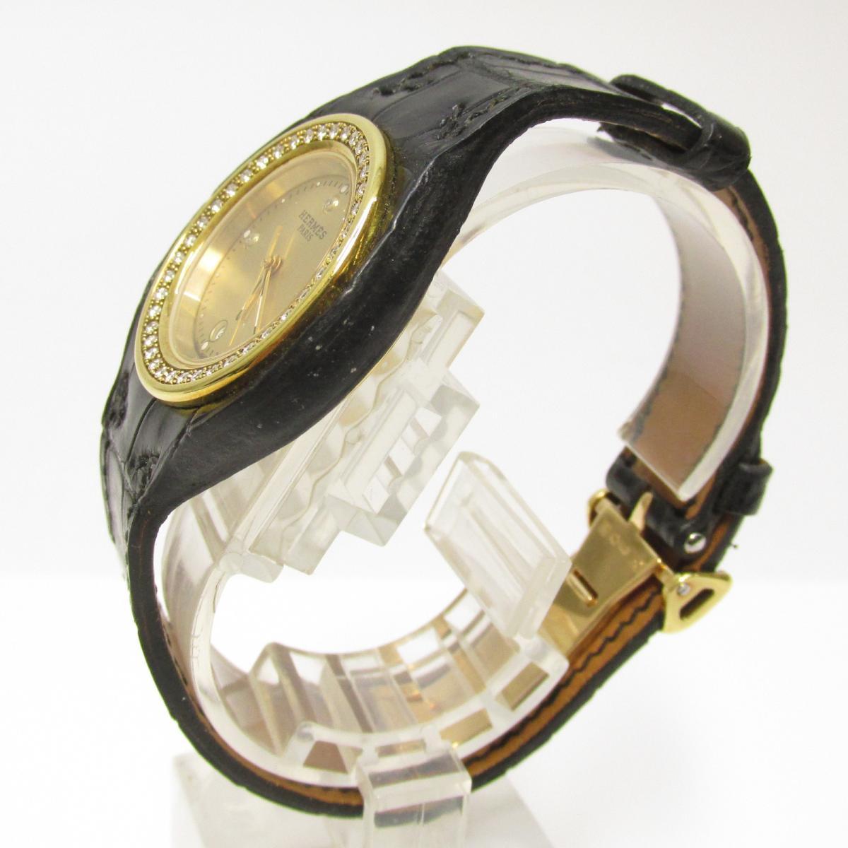 HERMES 時計 HA1.286 アーネ ベゼルダイヤモンド 3Pダイヤモンド 時計/レディース