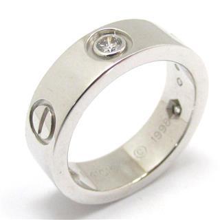 カルティエ (Cartier) ラブ リング ハーフダイヤモンド 3Pダイヤモンド 指輪