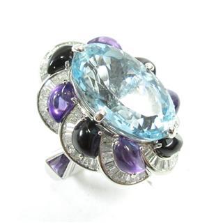 ジュエリー (JEWELRY) アクアマリンリング 指輪