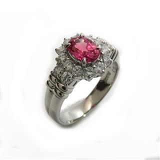 ジュエリー (JEWELRY) ピンクサファイア.ダイヤモンド リング 指輪