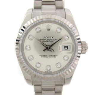 ロレックス (ROLEX) デイトジャスト 10Pダイヤ ウォッチ 腕時計 179179G M番