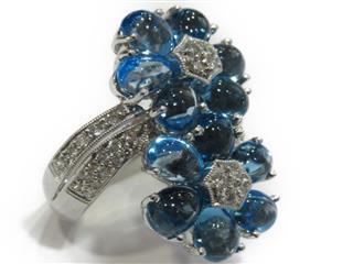ジュエリー (JEWELRY) ブルートパーズ ダイヤモンドリング 指輪