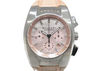 ブルガリ (BVLGARI) エルゴン クロノ 21Pダイヤモンド 腕時計 ウォッチ EG35SCH