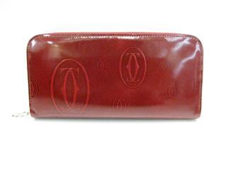 カルティエ (Cartier) ハッピーバースデイ ラウンドファスナー長財布