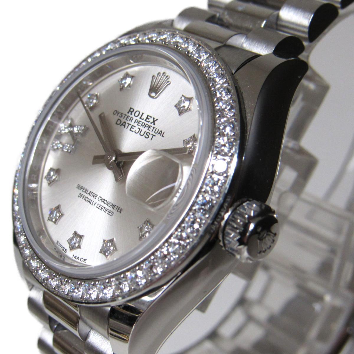 ROLEX 時計 279136 デイトジャスト ダイヤモンドベゼル 腕時計/レディース