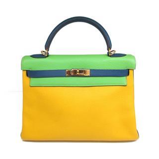 エルメス (HERMES) ケリー32・トリコロール 内縫い ハンドバッグ