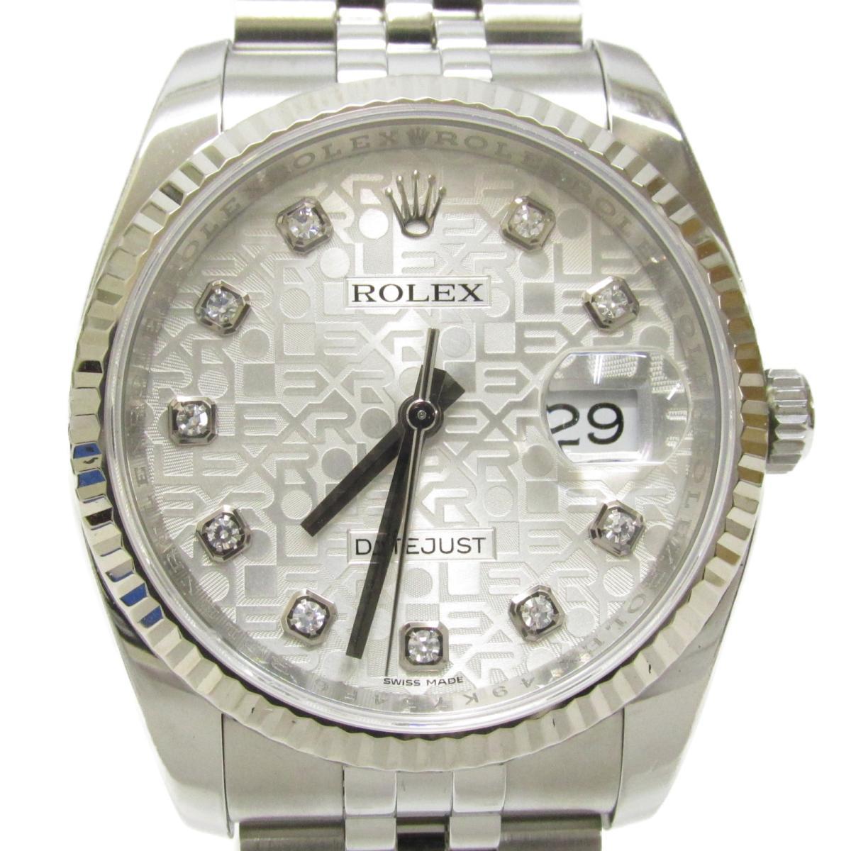デイトジャスト10Pダイヤモンド/腕時計/メンズ