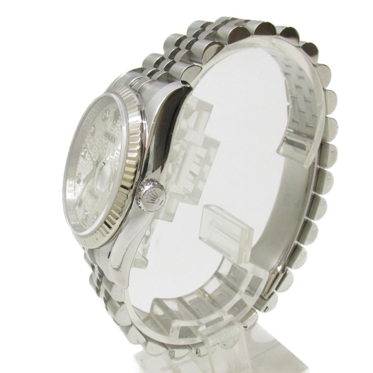 ROLEX 時計 116234G デイトジャスト10Pダイヤモンド/腕時計/メンズ