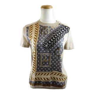 エルメス (HERMES) シルク柄半袖セーター