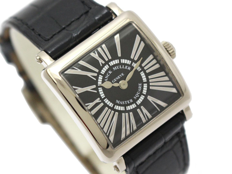 FRANCK MULLER 時計 6002 S QZ マスタースクエア レディース ウォッチ 時計/レディース