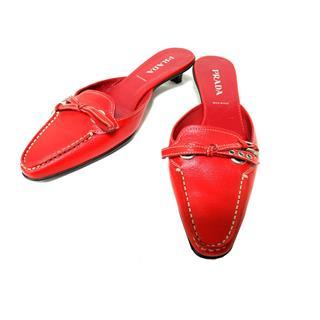 プラダ (PRADA) パンプス ミュール ローヒール靴