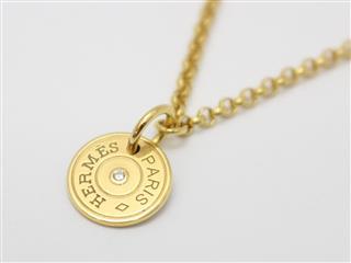 エルメス (HERMES) ガンバード・クルード・セル 1Pダイヤモンド ネックレス