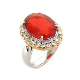 ジュエリー (JEWELRY) ファイヤーオパール ダイヤモンド リング 指輪