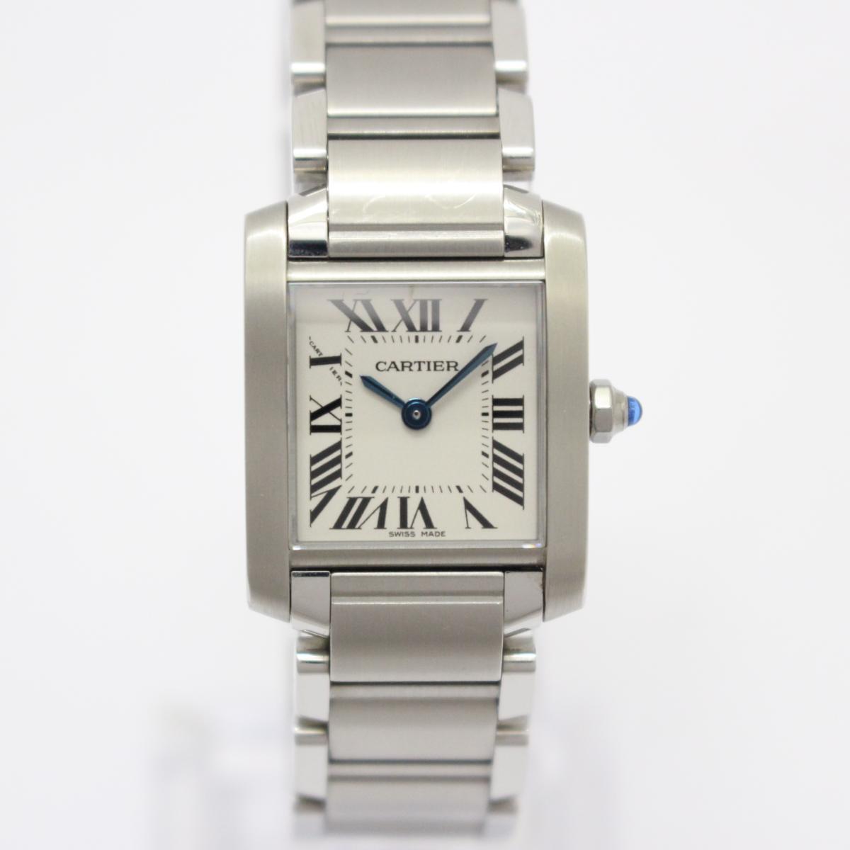 Cartier 時計 W51008Q3 タンクフランセーズSM レディースウォッチ 腕時計