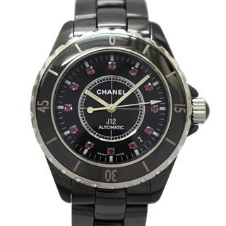シャネル (CHANEL) J12 12Pルビー メンズウォッチ 腕時計 H1635