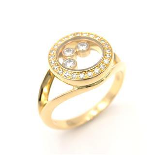 ショパール (Chopard) ハッピー3Pダイヤモンドリング 指輪