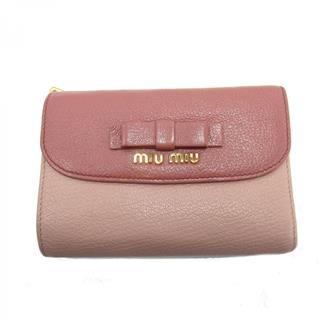 ミュウ ミュウ (Miu Miu) リボンL型ZIP財布