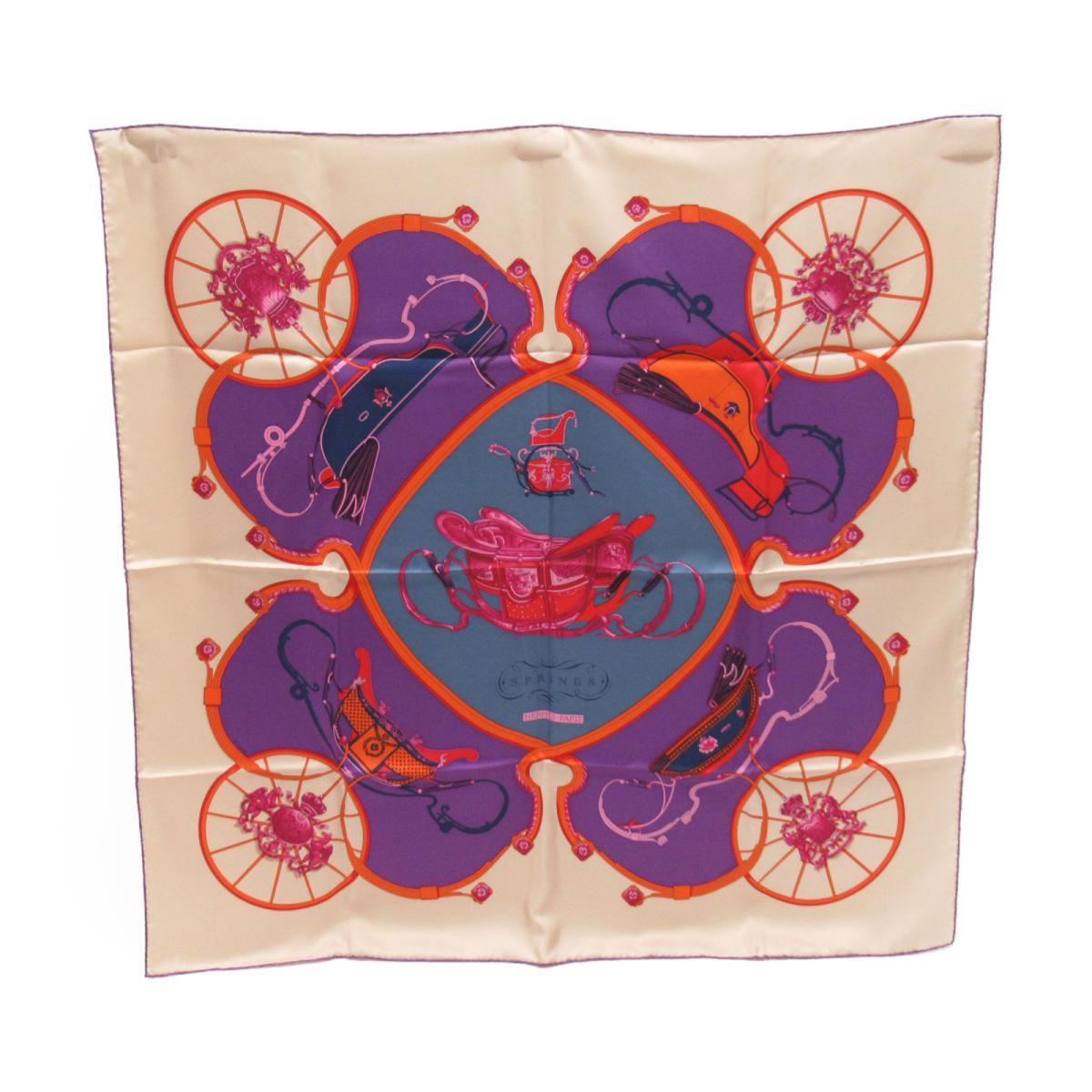 スカーフ カレ90「SPRINGS」/おすすめ/SALE