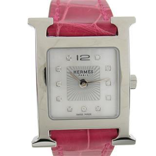 エルメス (HERMES) Hウォッチ 11Pダイヤ ウォッチ 腕時計 HH1.210/D刻
