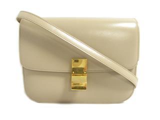 セリーヌ (CELINE) クラシックボックスミディアムフラップバッグ ショルダーバッグ