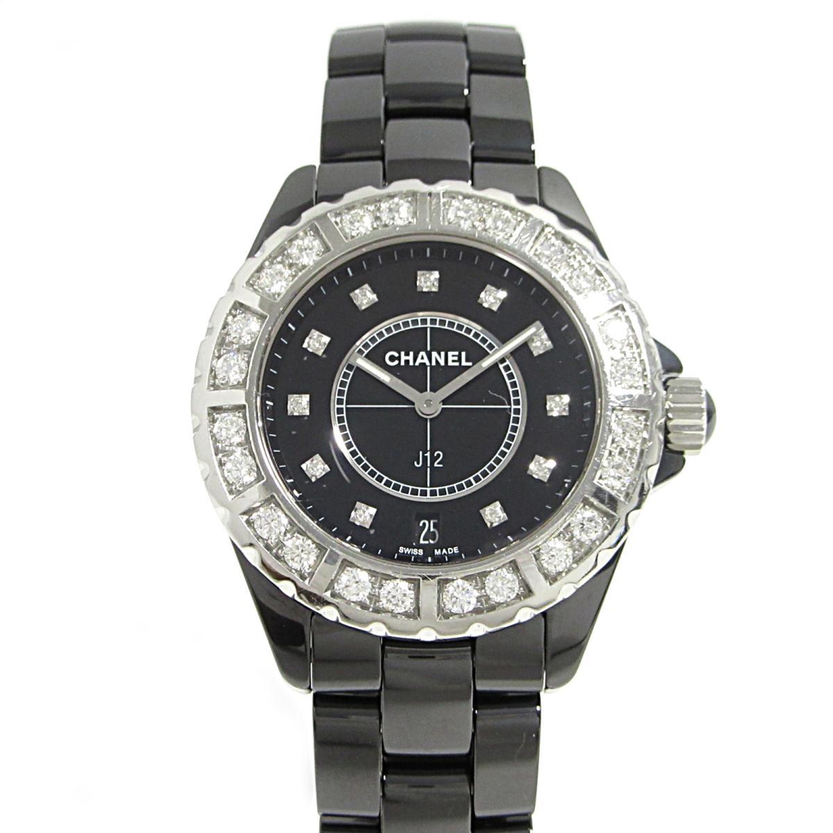 2c37a3861334 シャネル J12 ラージダイヤベゼル 腕時計 ウォッチ メンズ H2428 ...