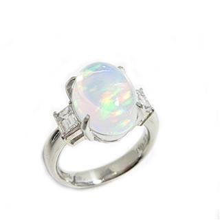 ジュエリー (JEWELRY) ウォーターオパール ダイヤモンド リング 指輪