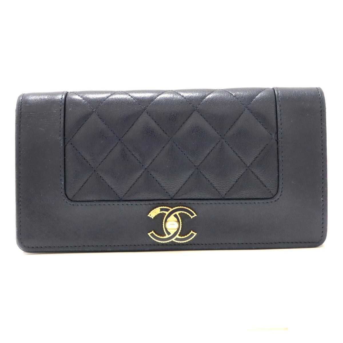 【おすすめ!】ヴィンテージ マドモアゼルフラップ ウォレット 二つ折長財布 長財布