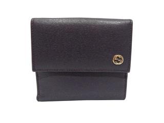 グッチ (GUCCI) インターロッキングG Wホック 二つ折財布