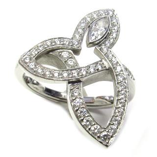 ハリーウィンストン (HARRY WINSTON) リリークラスター ダイヤ リング 指輪
