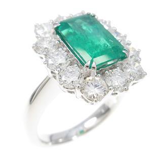ジュエリー (JEWELRY) K18WG エメラルドリング 指輪