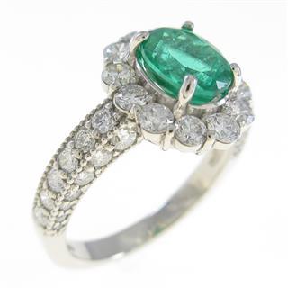 ジュエリー (JEWELRY) PT エメラルドリング 指輪