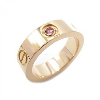 カルティエ (CARTIER) ラブリング1Pピンクサファイア リング 指輪