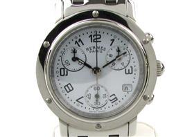 HERMES(エルメス クリッパー クロノ ウォッチ 腕時計 レディース
