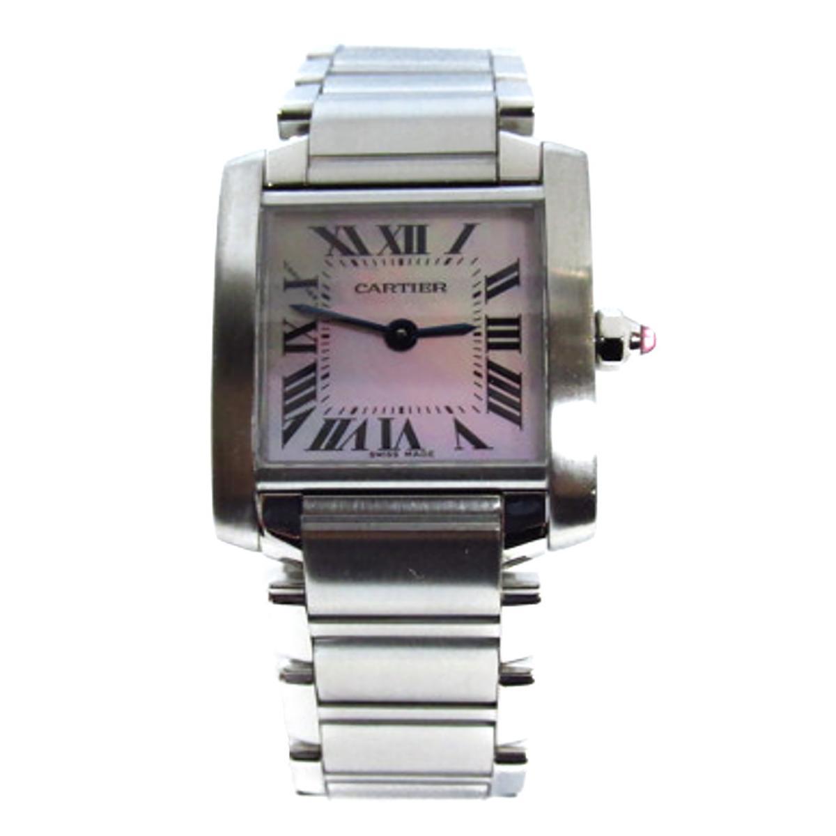 タンクフランセーズSM ピンクシェル 腕時計/人気/おすすめ